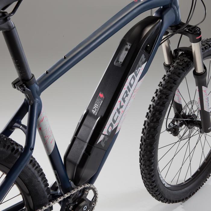 E-MTB E-ST500 Damen blau/chrom