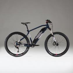 BICICLETA DE MONTAÑA eléctrica E-ST500 Mujer azul y cromo