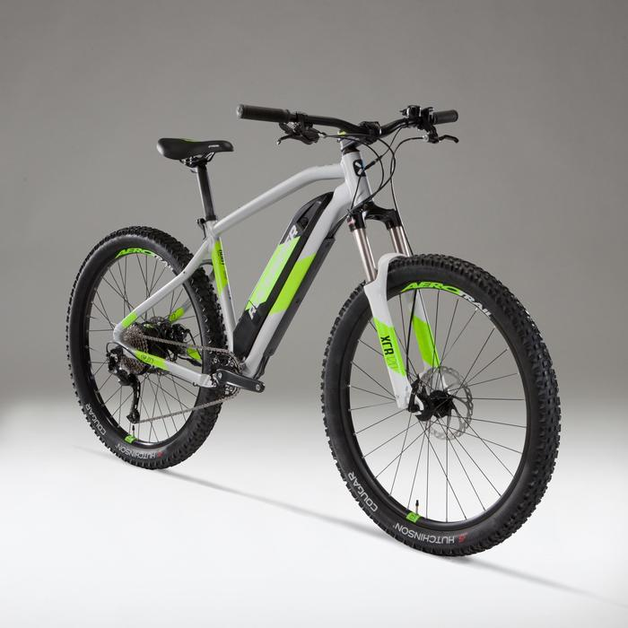 Elektrische MTB E-ST500 grijs/geel