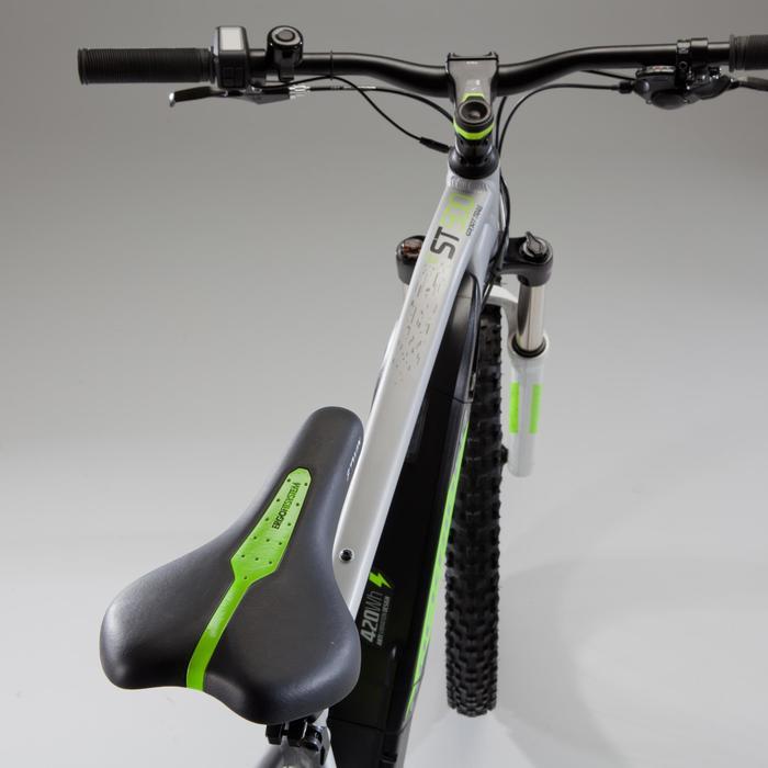 Bicicleta MTB eléctrica e-ST 500 gris y amarilla