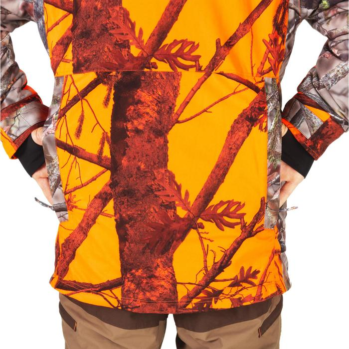 JAGD-REGENJACKE WARM 500 CAMOUFLAGE ORANGE