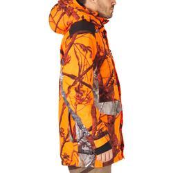 Chaqueta Caza Solognac 500 Impermeable Calida Camuflaje Naranja Fluo