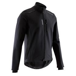 Men's Road Cycling Touring Winter Jacket 100 - Black