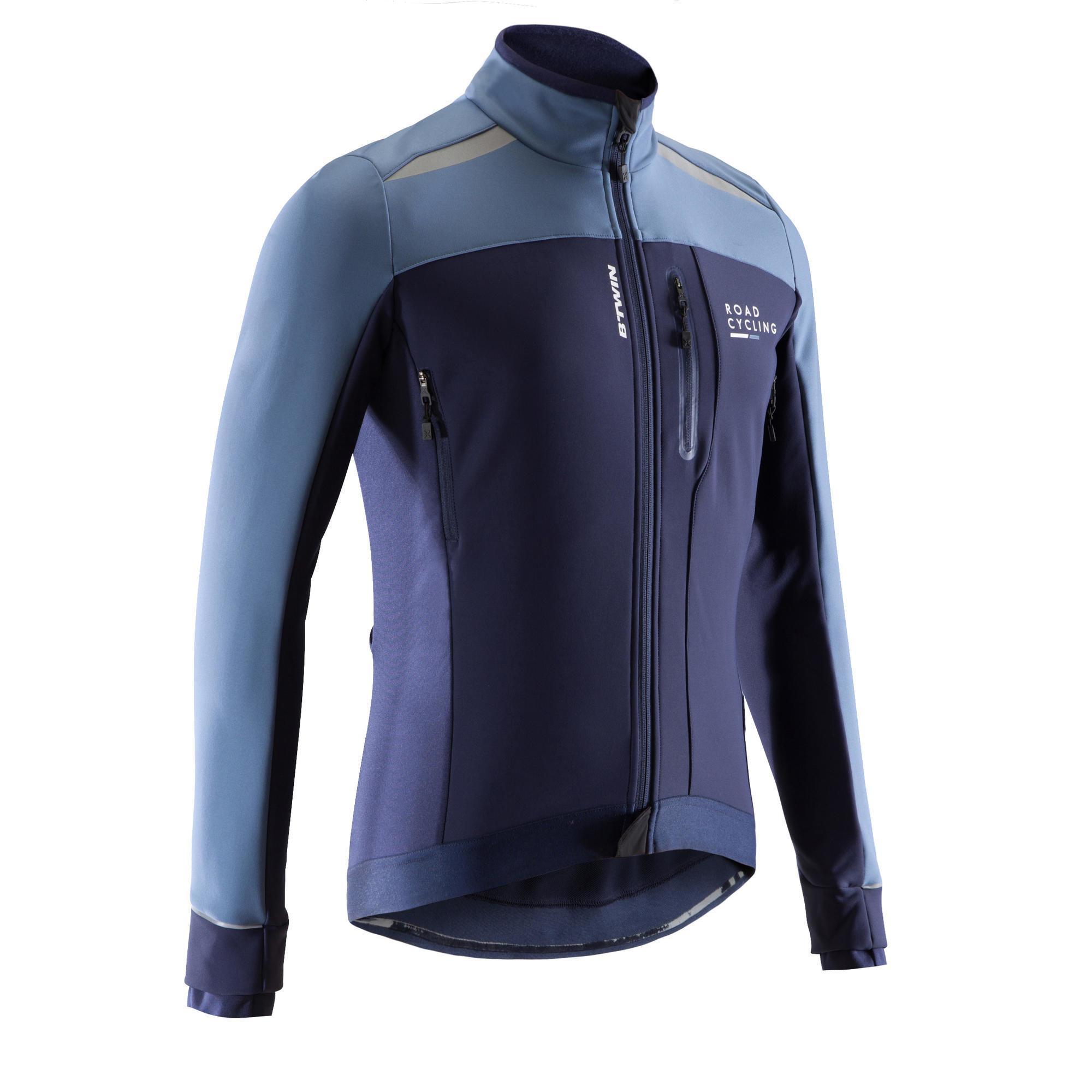 Fahrradjacke Rennrad 500 Herren marineblau   Sportbekleidung > Sportjacken > Fahrradjacken   B'twin