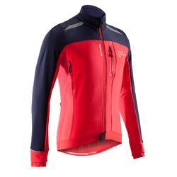 Fahrradjacke Rennrad 500 Herren rot/marineblau