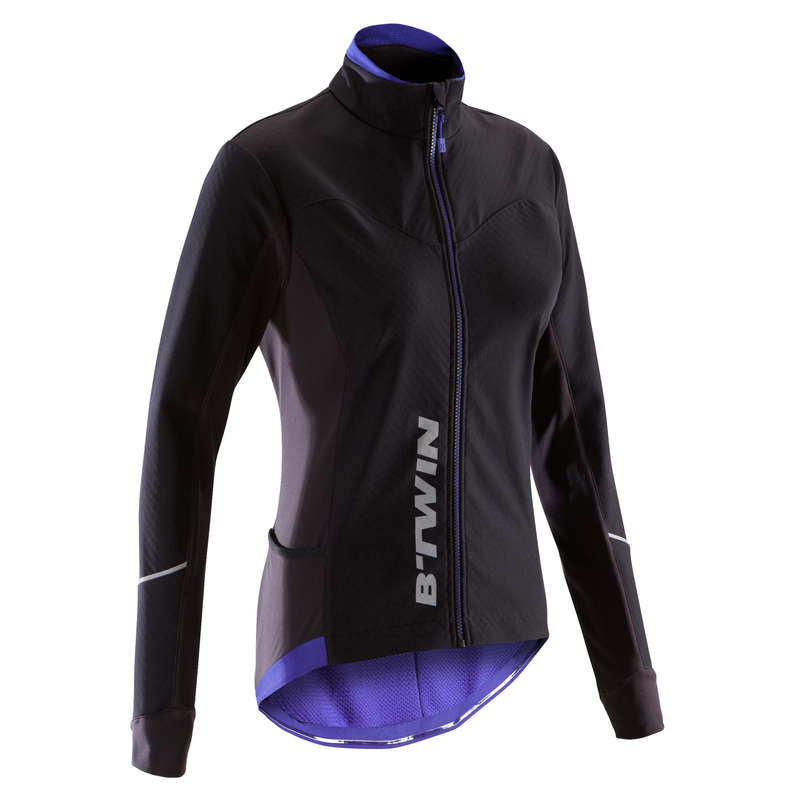 WOMEN COLD WEATHER ROAD APPAREL - 500 Women's Cycling Jacket TRIBAN