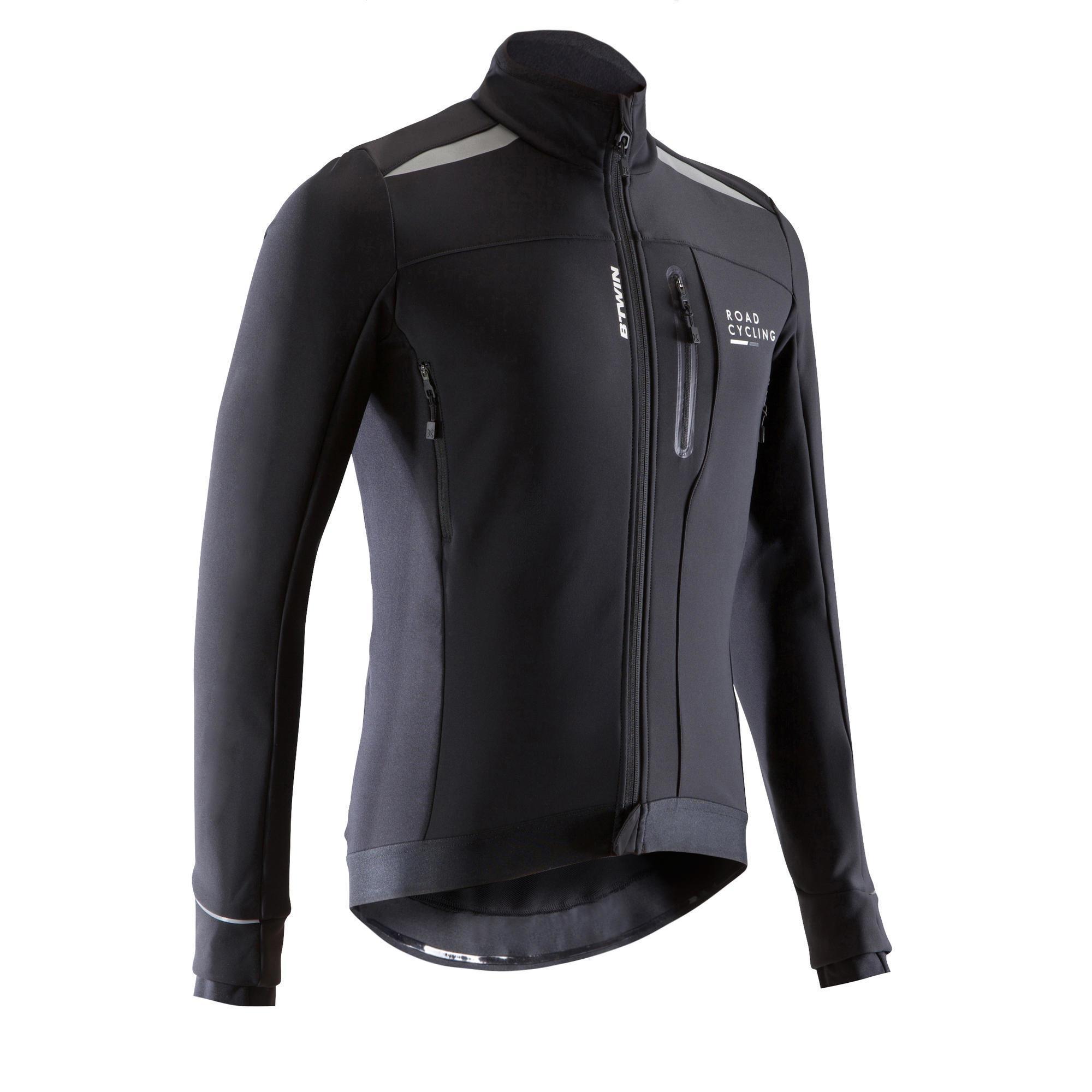 Triban Fietsjas voor heren 500 roadcycling koud weer zwart