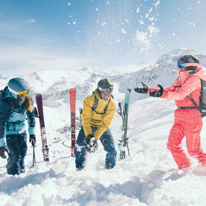 Chaqueta de esquí All Mountain mujer AM900 azul
