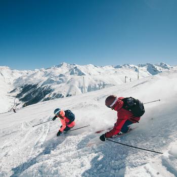 Ski rugzak met rugbeschermer FR500 blauw voor freeride - wintersport