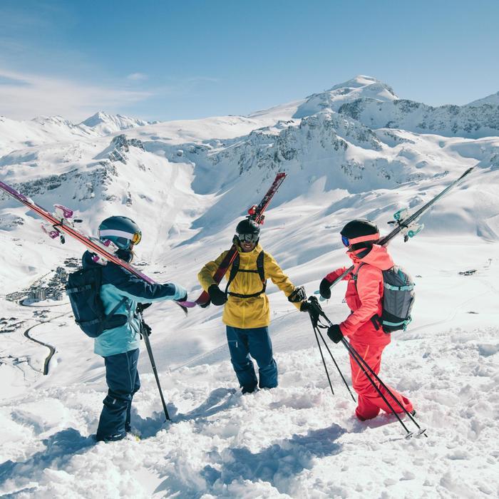 Sac à dos ski Free Ride Dorsale intégrée FR500 Bleu