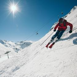 Ski-jas voor heren Freeride FR500 bordeaux