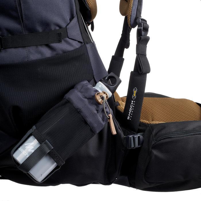 Men's Mountain Trekking Backpack Trek 900 Symbium 70L +10L - Grey