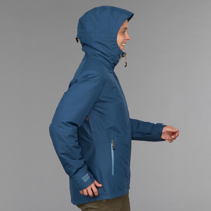 Chaqueta trekking Rainwarm 500 3 en 1 mujer azul