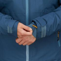 Veste 3en1 imperméable confort -8°C de trek voyage - TRAVEL 500 bleue - femme