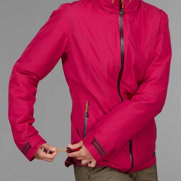 Chaqueta trekking TRAVEL500 3en1 mujer rosa