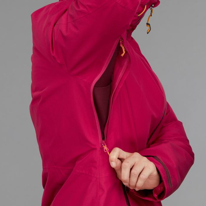Chaqueta trekking Rainwarm 500 3 en 1 mujer rosa