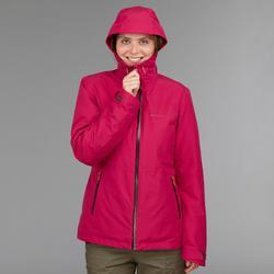 3-in-1 damesjas voor backpacken Travel 500 roze