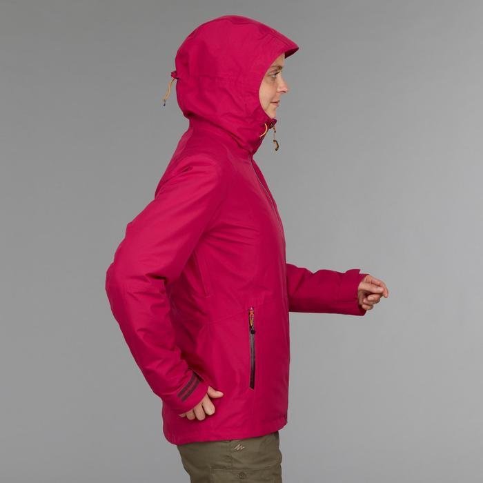 Veste trekking TRAVEL500 3en1 femme rose