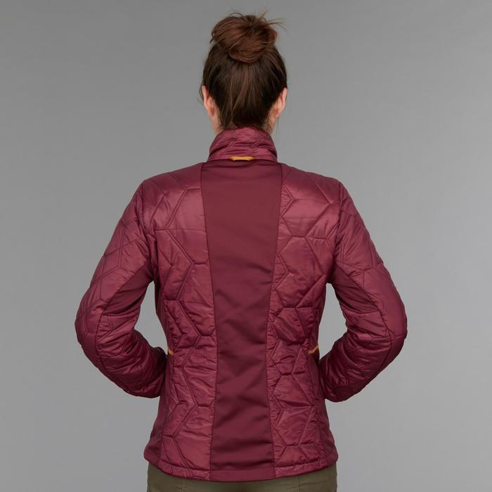 Waterdichte 3-in-1 jas voor backpacken dames comfort -8°C Travel 500 roze