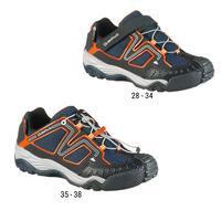 Bottes de randonnée enfant Crossrock imperméables bleues/orange