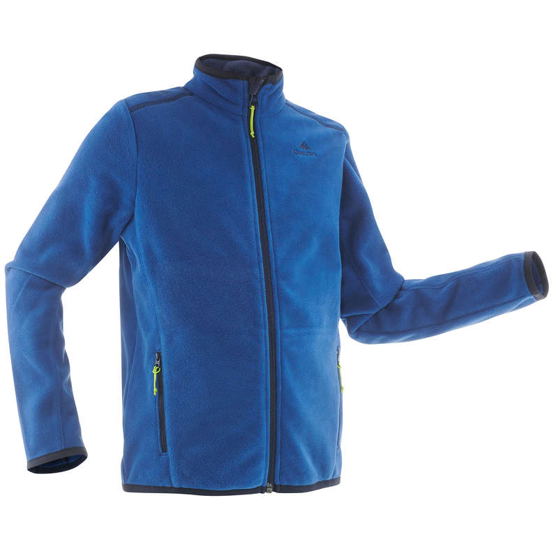 CHILDREN MOUNTAIN HIKING FLEECES, SOFT Hiking - Kids' Fleece MH150 - Navy QUECHUA - Hiking Clothes