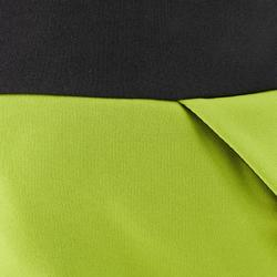Polaire de randonnée enfant MH500 gris jaune 7- 15 ans
