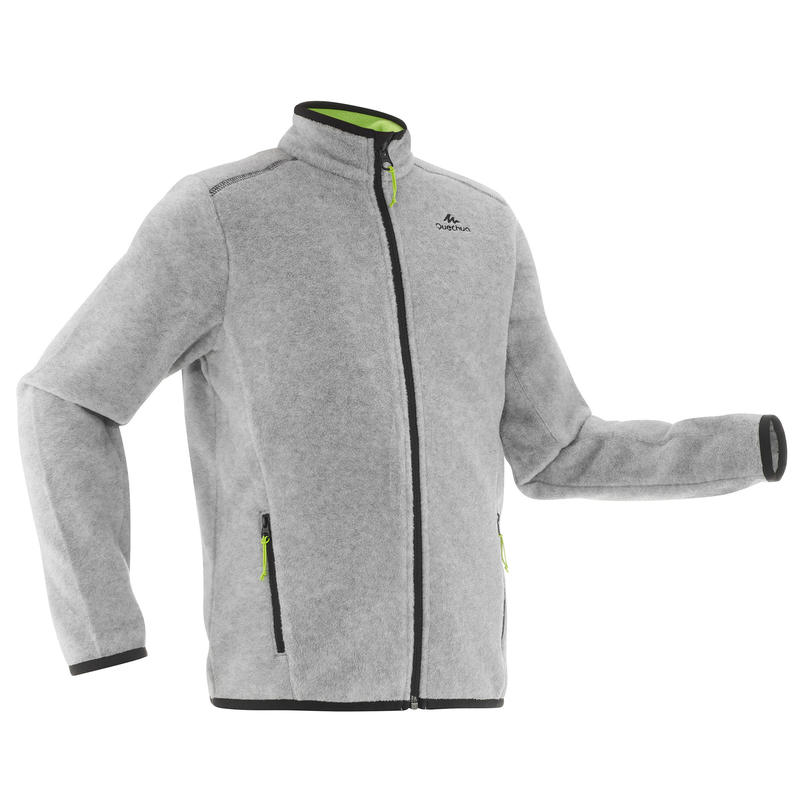 Kids Hiking Fleece Jacket MH150 - Grey