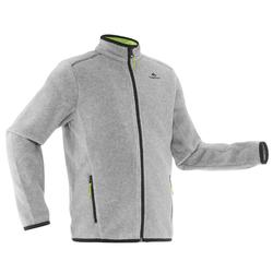 Kids' MH150 grey hiking fleece jacket