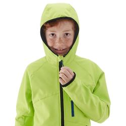 Chaqueta Softshell de senderismo niño MH 900 verde