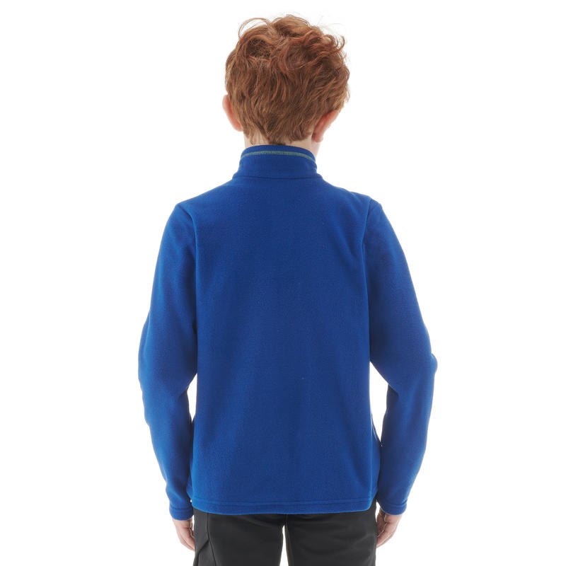 Kids' Hiking Fleece MH100 - Blue