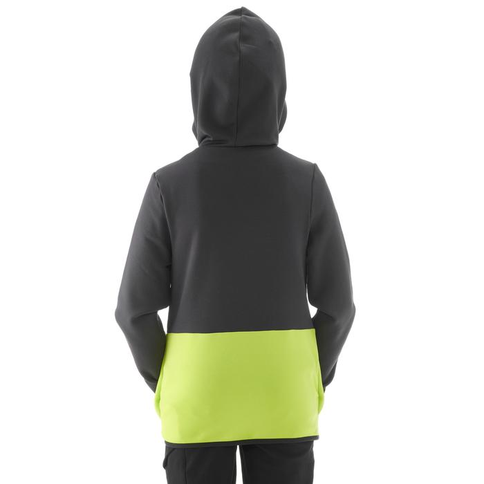 Fleecejacke MH500 Wandern Kinder 7–15 Jahre grau/gelb