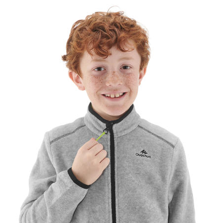 Kids' Hiking Fleece Jacket MH150 7-15 Years - Grey