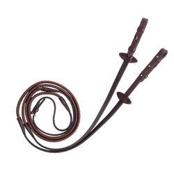 Riendas equitación 580 ESTRÁS marrón talla caballo