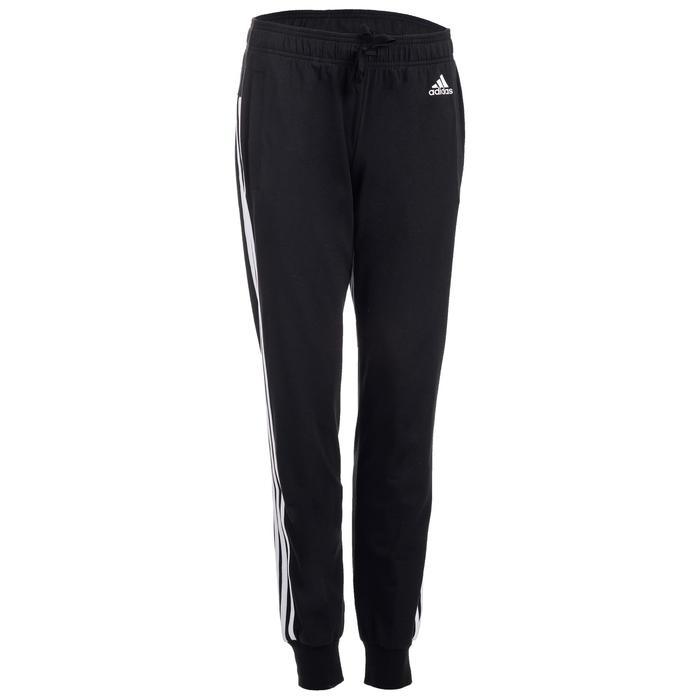 Pantalon Adidas 500 3 bandes Gym Stretching femme noir - 1500583