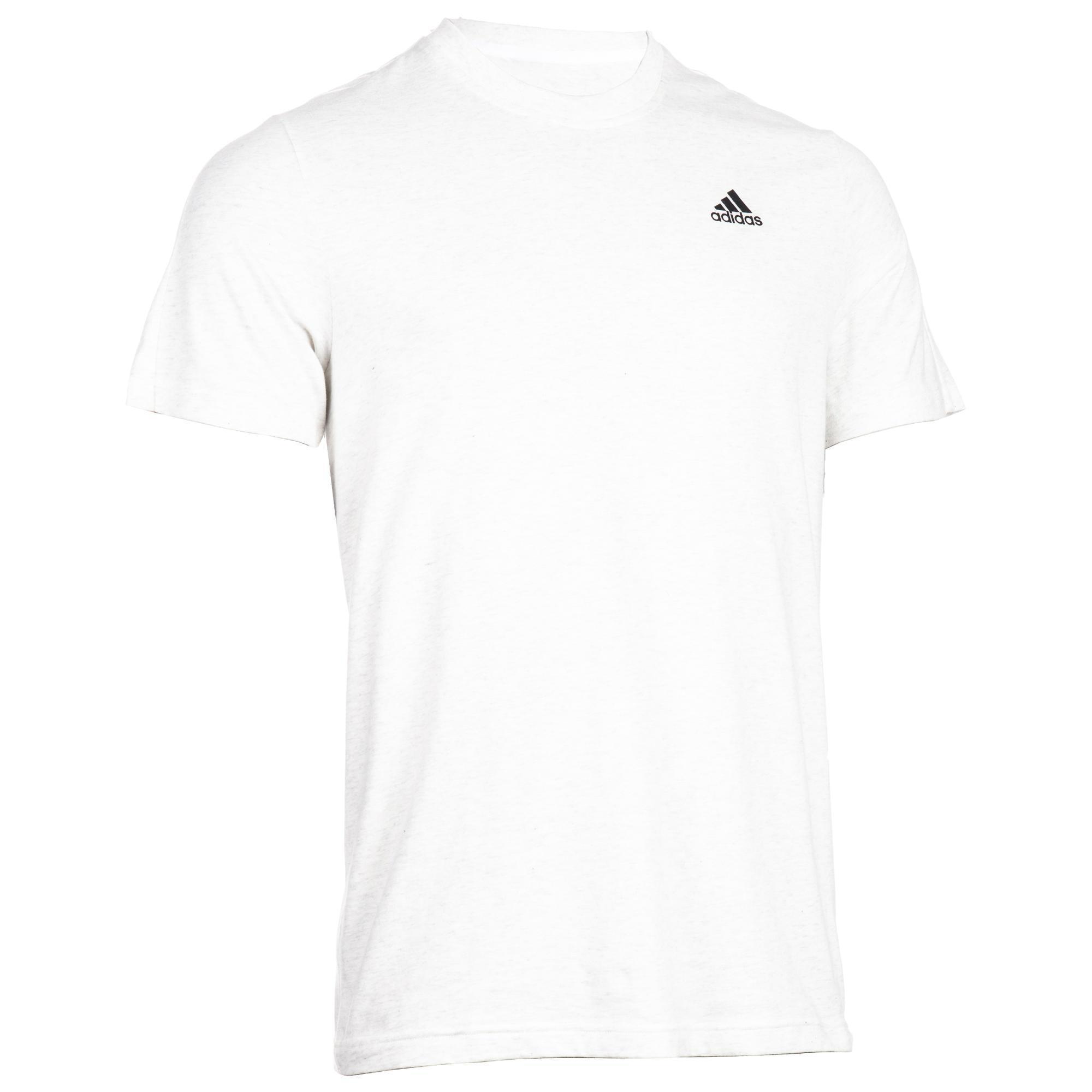 t shirts, poloshirts herren sport erleben decathlon  auslaufmodell t shirt gym 500 stretching herren wei�