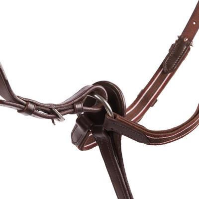 Collier + martingale équitation cheval SCHOOLING marron