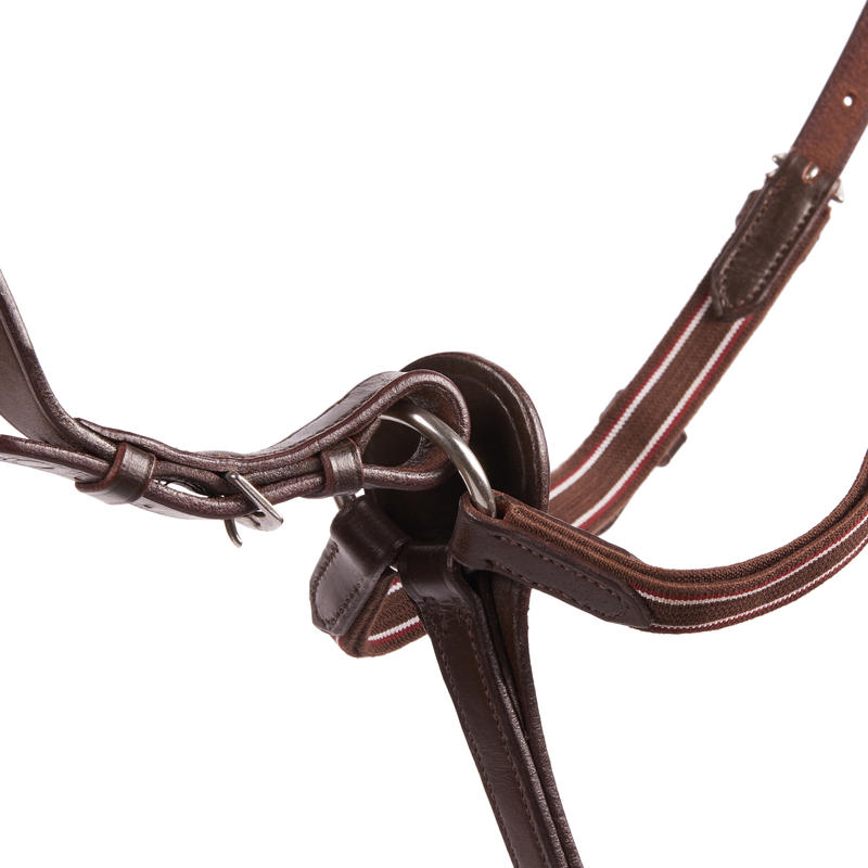 Schooling Horse Riding Breastplate + Martingale For Horse - Brown