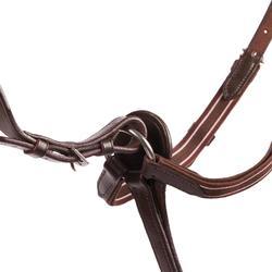Pechopetral + gamarra equitación Fouganza SCHOOLING caballo marrón