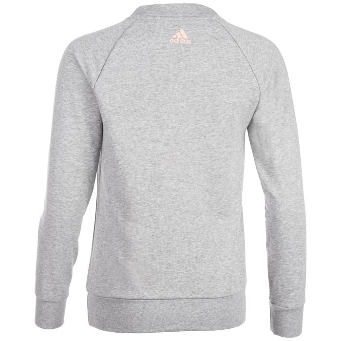 Sweatshirt 500 Gym Stretching Damen grau