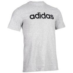 Heren T-shirt Adidas Linear 500 voor gym en stretching grijs