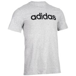 T-shirt Adidas Linear 500 Gym Stretching homme gris