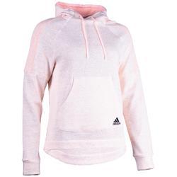 Dames hoodie Adidas 500 voor gym en stretching roze