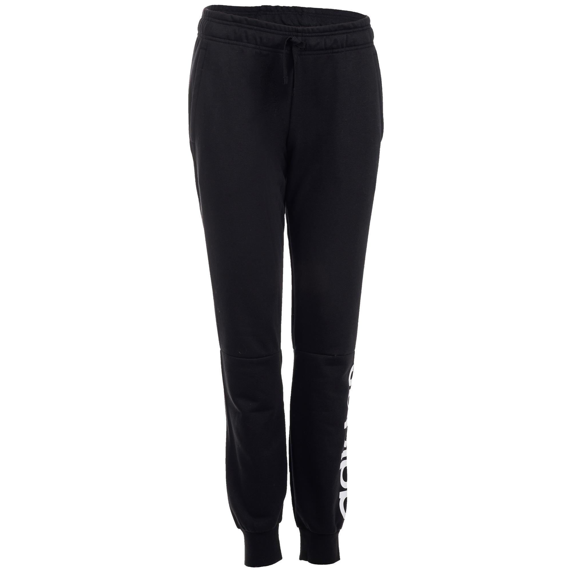 Adidas Essentials Linear women's training pants (black-white) M