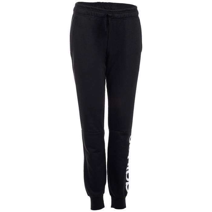 official photos bb7fa d5b20 Pantalon Adidas Linear 500 slim Gym Stretching femme noir et blanc