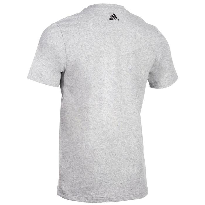 T-Shirt Linear 500 Gym Stretching Herren grau