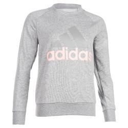 Dames sweater Adidas 500 voor gym en stretching grijs