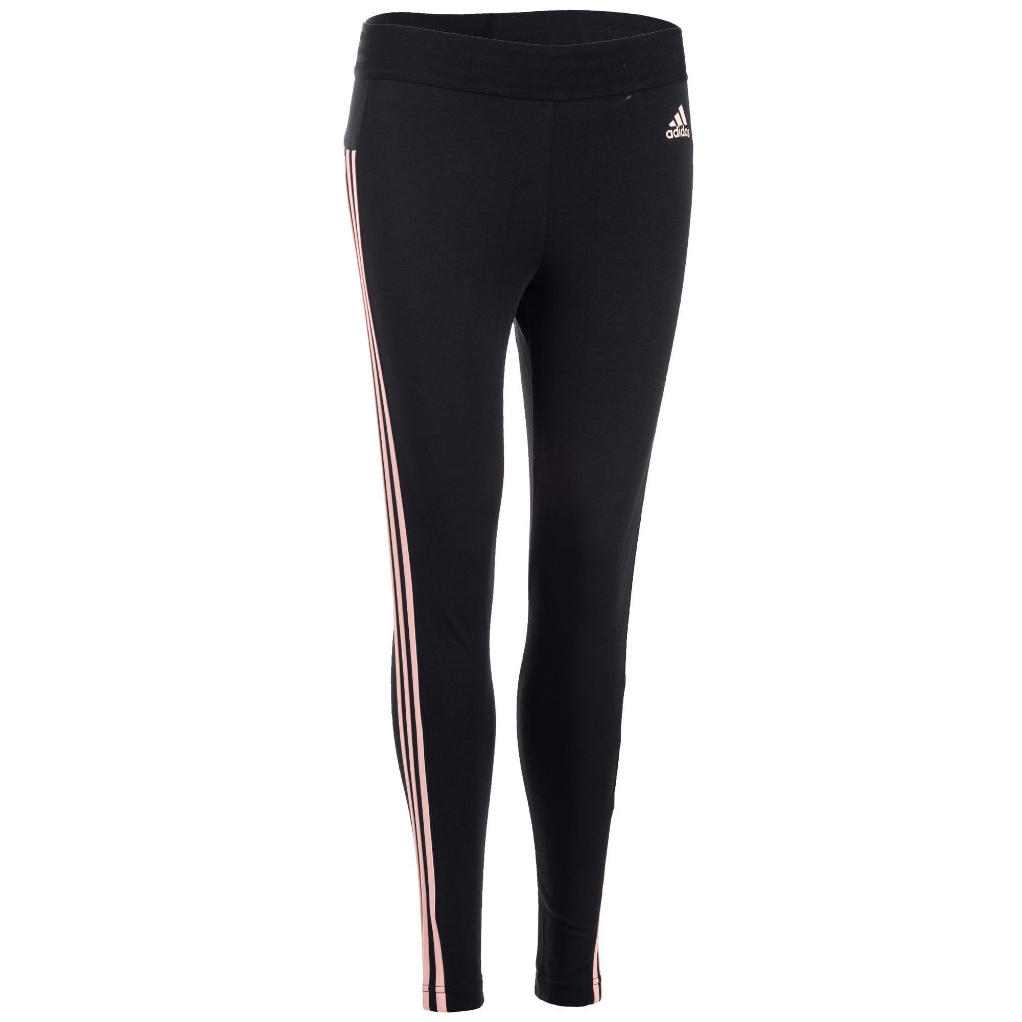 Adidas Dameslegging Adidas 3S 500 voor gym en stretching slim fit zwart en roze