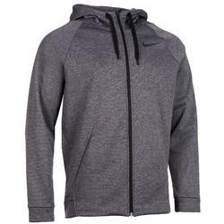 Heren hoodie met rits Nike 900 voor gym en stretching grijs