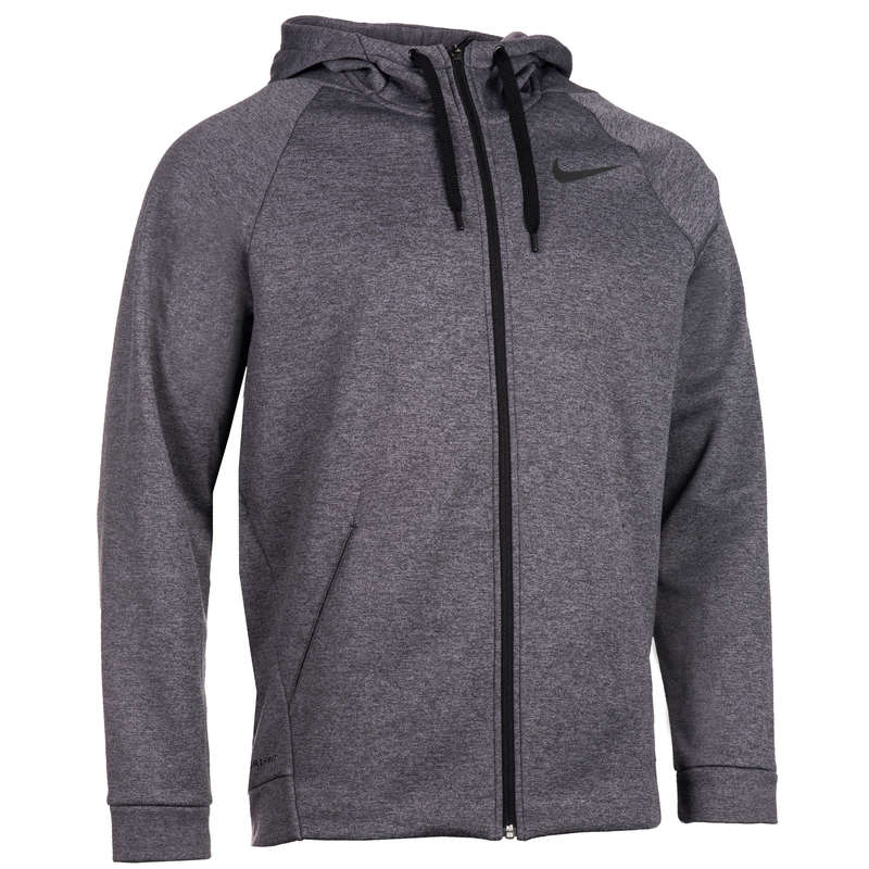 MAN GYM, PILATES COLD WEATHER APPAREL - 900 Hooded Gym Jacket - Grey NIKE