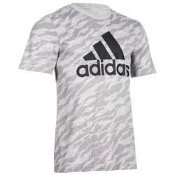 Camiseta Manga Corta Gimnasia Pilates Adidas 500 Hombre Gris